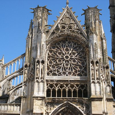 Rose Window at W end of St Jacques, Dieppe