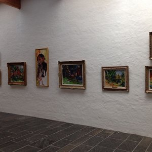 A small part og the  art collection
