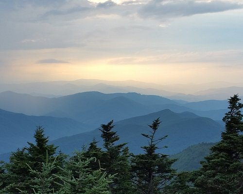 On top off the Summit Trail...Mt.Mitchell...I took this photo at sunset.