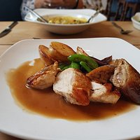 Guinea Fowl was moist and the gravy absolutely amazing!