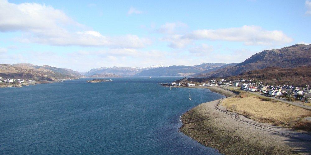 Skye Bridge looking east.
