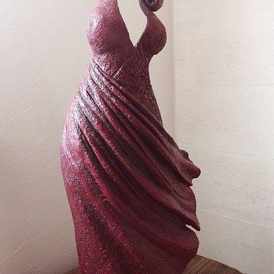 Une des sculpture de Sandra dont j'ai fait l'acquisition lors d'une de mes visites.