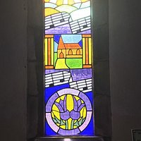 Beautiful modern stained glass