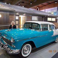 Front of House with 55 Chevy