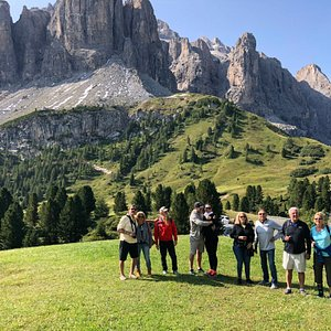 group shot in the Dolomites Italy