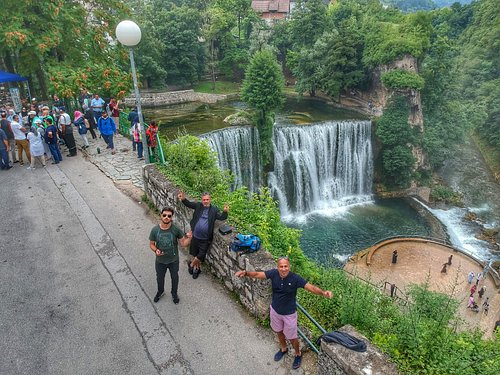 Photo by: Tourmage, Jajce town and Pliva waterfalls, group from South Africa