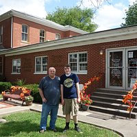 Visiting Hanna House local history museum in Fairfield, Illinois
