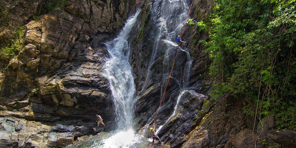 Antelope waterfall rappelling