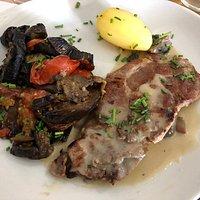 côte de porc au tian de légumes