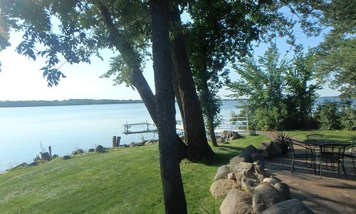 lake view from the patio