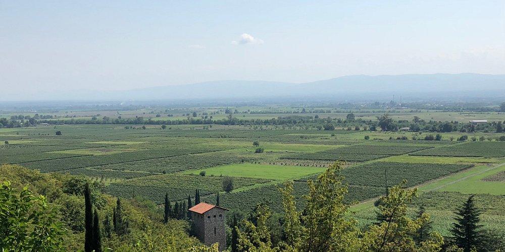 Tunnel Winery Khareba view of Alazani valley