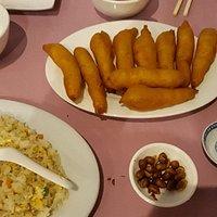 Sushi and sweet & souwer prawns