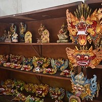 Balinese Masks are made of Wood, and made by four artists. High Quality Mask with reasonable cos