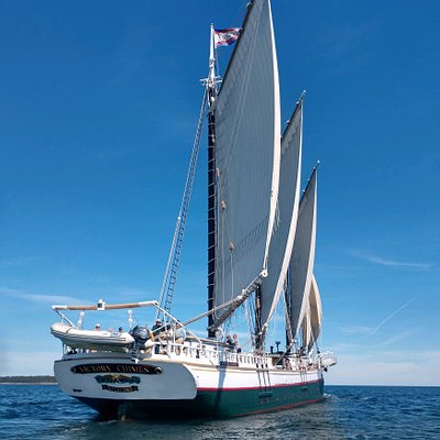 She's a smooth sailing, wonderful piece of sailing history!