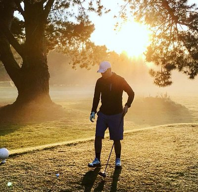 On the tee at 7am
