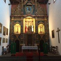 Interieur van de kerk met Christus 'van de heerlijke dood'