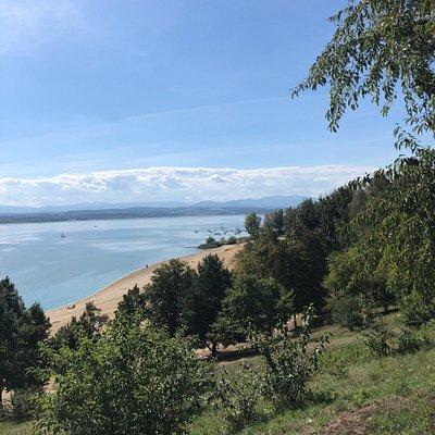 Jezioro nyskie we wrześniu.