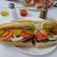 Cheeseburger Sub, great!