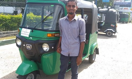 Suranga and his new tuk tuk