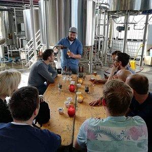Beer tasting in the brewery itself