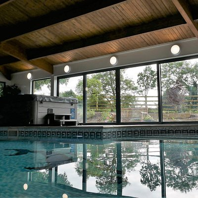Swimming pool and commercial hot tub