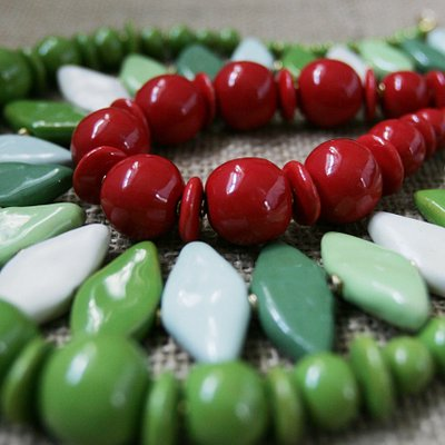 Kazuri beads necklaces