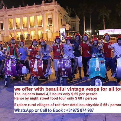 enjoy vespa night food tour