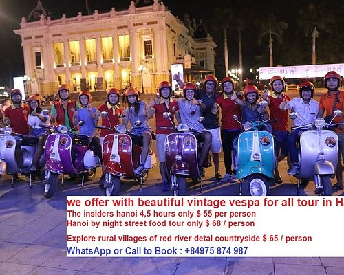 enjoy vespa night food tour