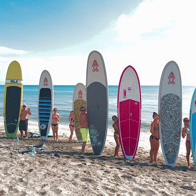 Ocean Motivation - Boards up group shot