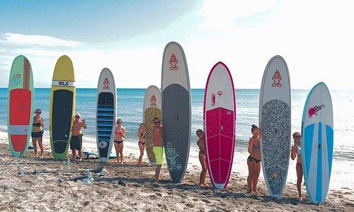 Ocean Motivation - Boards up group shot
