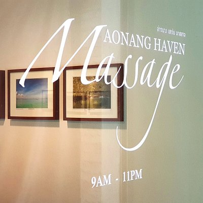 Welcome to Aonang Haven Massage. We are open from 9AM - 11PM.