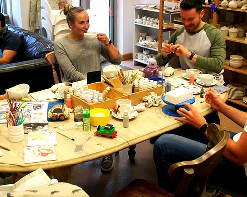 Pottery painting is creative fun for all ages.