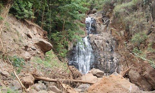 Waterfall after mountainbike tour