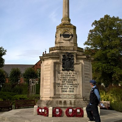 The War memorial in the grounds
