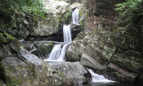 Some of the nearby falls
