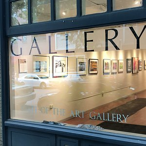 The Gallery is at 120 West State Street just west of the Commons.