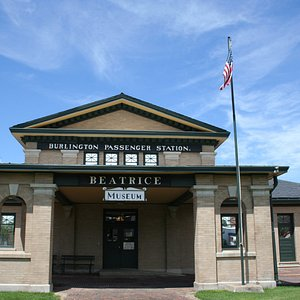 1906 Burlington Depot that is the Gage County Museum.