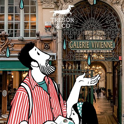 Chasse aux trésors pour un jour de pluie (Palais-Royal, galeries couvertes)