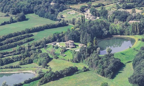 The property as seen from the air