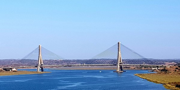 Bridge joining Spain and Portugal