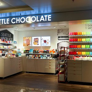 A look into the Seattle Chocolate airport store.