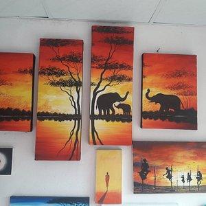 Brilliant acrylic colour painting