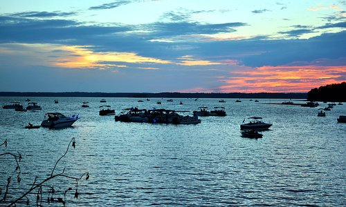 Boats by sunset during First Responders Event—Summer 2017