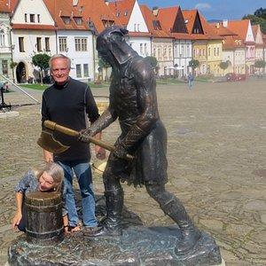 Executioner statue in the square