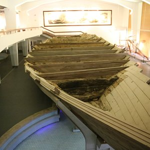 Ancient Boat dug out of the sand