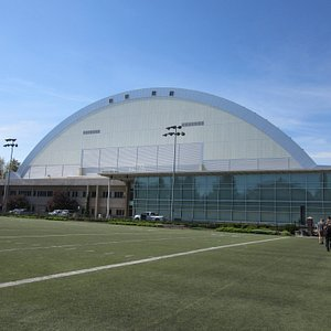 Outside of the Kibbie Dome.