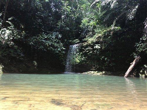Teraja pool and waterfall