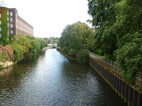 Typical view of the Riverside Walk