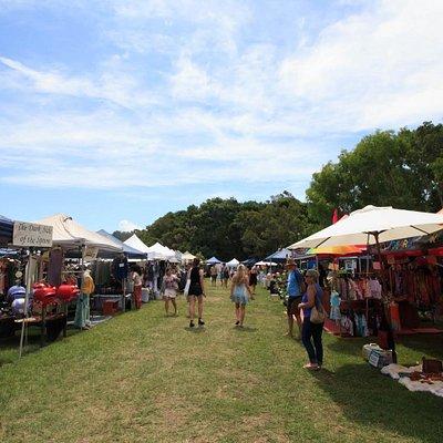 Enjoying a sunny Sunday arvo at the Byron Community Market