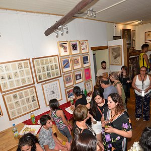 Exposición premios nacionales de arte Gracia Barrios y José Balmes